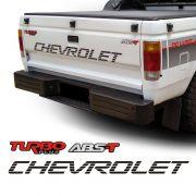 Kit Faixa Chevrolet Preto D20 + Adesivos Turbo Plus E Abs-t
