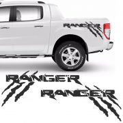 Kit Faixa Ford Ranger Garras 2013/2019 Adesivo Lateral Grafite
