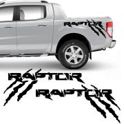 Kit Faixa Ford Ranger Raptor 2013/19 Adesivo Lateral Preto