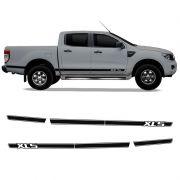 Kit Faixa Ford Ranger Xls Adesivo Lateral Preta Acessório