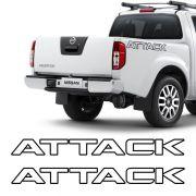 Kit Faixa Frontier Attack 12/ Modelo Original Adesivo Preto