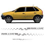 Kit Faixa lateral + Adesivo Traseiro Gol Rallye G4 Grafite