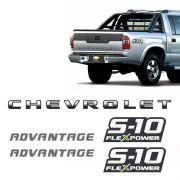 Kit Faixa Preta S10 Chevrolet Advantage 09/11 + Flex Power