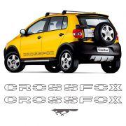Kit Faixas Crossfox 2006 2007 Adesivo Lateral Grafite Vw