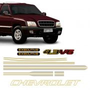 Kit Faixas S10 Executive 1999/2000 CD Chevrolet Dourado