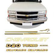 Kit Faixas Silverado D20 98/06 Adesivos Resinados Chevrolet