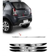 Kit Friso Traseiro Sandero Stepway 2012 + Soleira Black Over