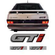 Kit Gol Quadrado Gti 1991/1994 Emblemas Traseiro E Colunas