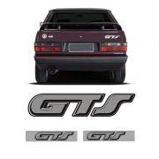 Kit Gol Quadrado Gts 1991/1994 Emblemas Traseiro E Colunas