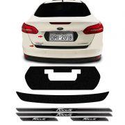 Kit Protetor Focus Sedan 18 Adesivo Placa + Soleira Da Porta