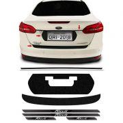 Kit Protetores Black Focus Sedan 18 Placa, Friso E Soleiras