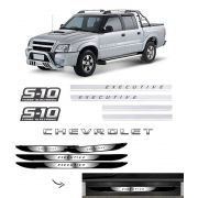 Kit S10 Executive Turbo Eletronic + Soleira Com Black Over