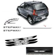 Kit Sandero Stepway Grafite 08 + Friso + Soleira Black Over