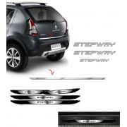 Kit Sandero Stepway Prata 2012 + Friso + Soleira Black Over