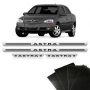 Kit Soleira Cromada Astra Hatch Sedan Com Protetor De Porta