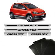 Kit Soleira Cromada Crossfox Cross Fox E Protetor De Porta