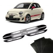 Kit Soleira Da Porta Abarth Com Black Over Resinado