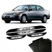 Kit Soleira Da Porta Civic 2001 a 2006 C/ Black Over Resinado