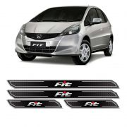 Kit Soleira Da Porta Diamante Honda Fit 2006/2014 Resinada