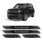 Kit Soleira Da Porta Diamante Jeep Renegade 16/18 Resinada