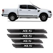 Kit Soleira Da Porta Diamante Ranger Xls 2013/2019 Resinada