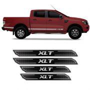 Kit Soleira Da Porta Diamante Ford Ranger Xlt 2013/2019 Resinada