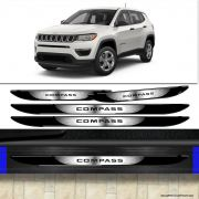 Kit Soleira Da Porta Jeep Compass Com Black Over