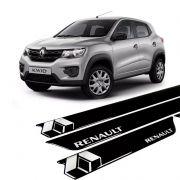 Kit Soleira Da Porta Resinada Renault Kwid Preta