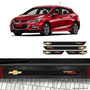 Kit Soleira da Porta Sport 6 Turbo Cruze Gold Com Black Over