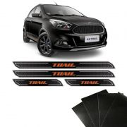 Kit Soleira Diamante Ford Ka Novo Trail E Protetor de Porta