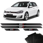 Kit Soleira Diamante Golf Gti 2014/2018 E Protetor De Porta