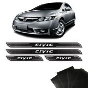Kit Soleira Diamante Honda New Civic Protetor De Porta