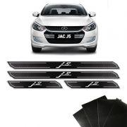 Kit Soleira Diamante Jac Motors J5 Com Protetor De Porta