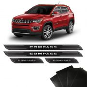 Kit Soleira Diamante Jeep Compass 2018 2019 E Protetor De Porta