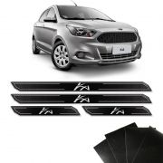Kit Soleira Diamante Ka Novo Hatch Sedan E Protetor De Porta