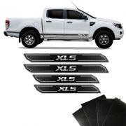 Kit Soleira Diamante Ranger Xls 2013/2019 Com Protetor de Porta