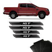 Kit Soleira Diamante Ranger Xlt 2013/2019 Com Protetor de Porta