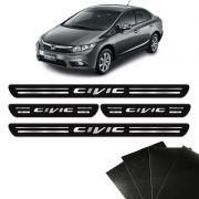 Kit Soleira Honda Civic 2001/ New Civic E G10 8 Peças Preta