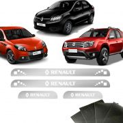 Kit Soleira Renault Logan Sandero Duster E Protetor De Porta