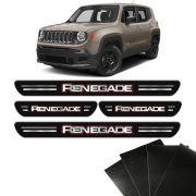 Kit Soleiras Da Porta Jeep Renegade 2015 8 Peças Protetoras