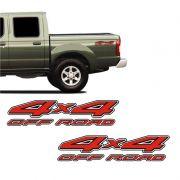 Par De Adesivos 4x4 Off Road Nissan Frontier Borda Branca