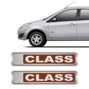 Par De Adesivos Class Ford Fiesta 2011 Emblemas Resinados