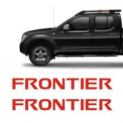 Par De Adesivos Nissan Frontier 12/ Rack Longarina Vermelho