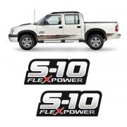Par de Adesivos S10 Rodeio Flex Power Vermelho (Porta)