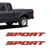 Par De Adesivos Sport Ranger 2007 2008 Emblema Vermelho Ford