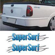 Par De Adesivos Super Surf Saveiro Parati Gol 03/08 Azul