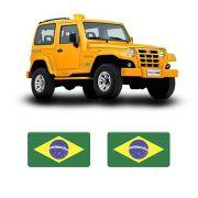 Par de Adesivos Troller 2005 Resinados Bandeiras do Brasil