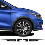 Par De Aplique Lateral Fiat Argo 2018/2019 Emblema Resinado