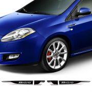 Par De Aplique Lateral Fiat Bravo 2011/2016 Emblema Resinado