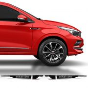 Par De Aplique Lateral Fiat Cronos 2018/2019 Emblema Resinado